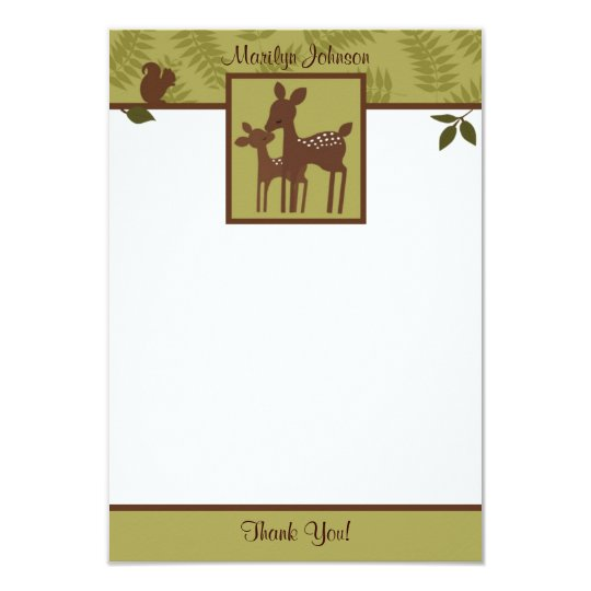 "Willow Deer Baby and Mommy Thank You card 3.5""x5"