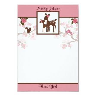 "Willow Deer Baby and Mommy Thank You card 3.5""x5"""