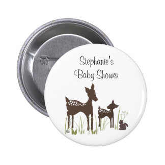 Willow Deer Baby Shower Button