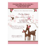 Willow Deer Baby Shower Invitation forest PINK
