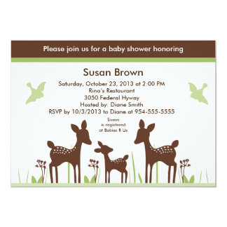 Willow Deer Baby Shower Invitation So Cute