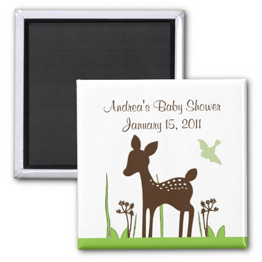 Willow Deer Baby Shower Magnet Keepsake