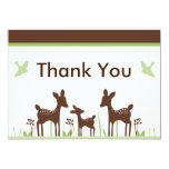 """Willow Deer Baby Shower Thank You Card 5"""" X 7"""" Invitation Card"""