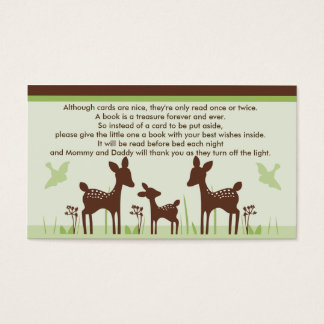 Willow Deer Family Baby Shower Book Request Cards