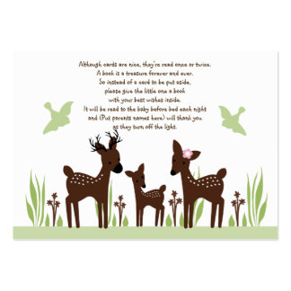 Willow Deer Family Favor Tag/Card Large Business Cards (Pack Of 100)