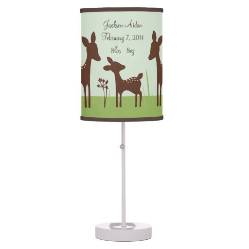 Willow Deer Family Nursery Lamp