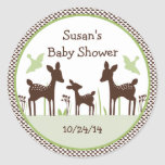 Willow Deer Family Stickers/Cupcake Toppers Classic Round Sticker
