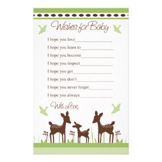 Willow Deer Family Wishes for Baby Letter Stationery