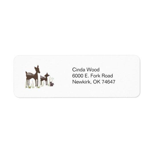 Willow Deer Forest Address Labels