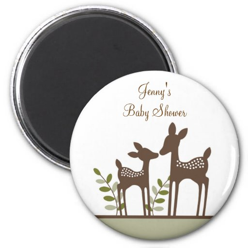Willow Deer Forest Baby Shower Magnets Favors Gift