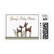 Willow Deer Forest Custom Postage Stamps