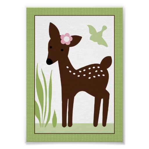 Willow Deer Mom/GreenPersonalized Art Poster