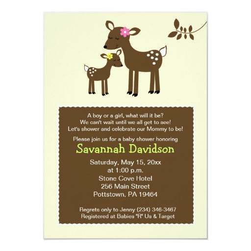 Willow Deer Neutral Baby Shower Invitation