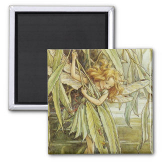 Willow Fairy 2 Inch Square Magnet