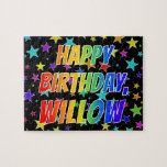 """[ Thumbnail: """"Willow"""" First Name, Fun """"Happy Birthday"""" Jigsaw Puzzle ]"""