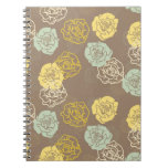 Willow Floral Spiral Note Books