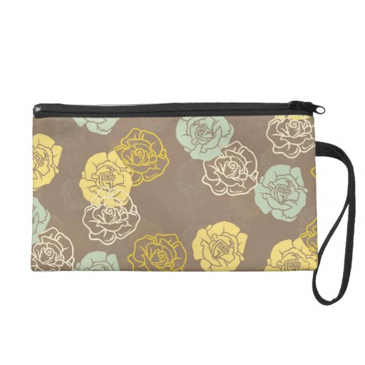 Willow Floral Wristlet Clutch