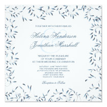 Willow Garden Elegant Blue and White Floral Card