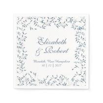Willow Garden Wedding Blue and White Paper Napkin