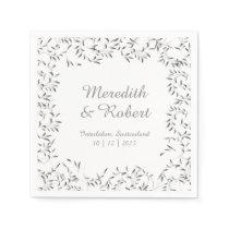 Willow Garden Wedding Paper Napkin