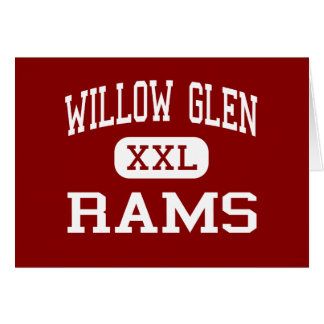 Willow Glen - Rams - High - San Jose California Greeting Card