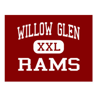 Willow Glen - Rams - High - San Jose California Postcard