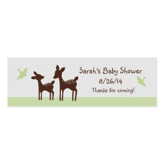 Willow Mom and Baby Deer Favor/Tags Business Card Template