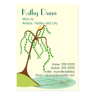 Willow Mom Calling Card Large Business Cards (Pack Of 100)