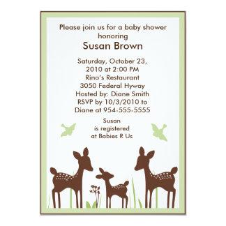 Willow Organic/Deer Baby Shower Invitation