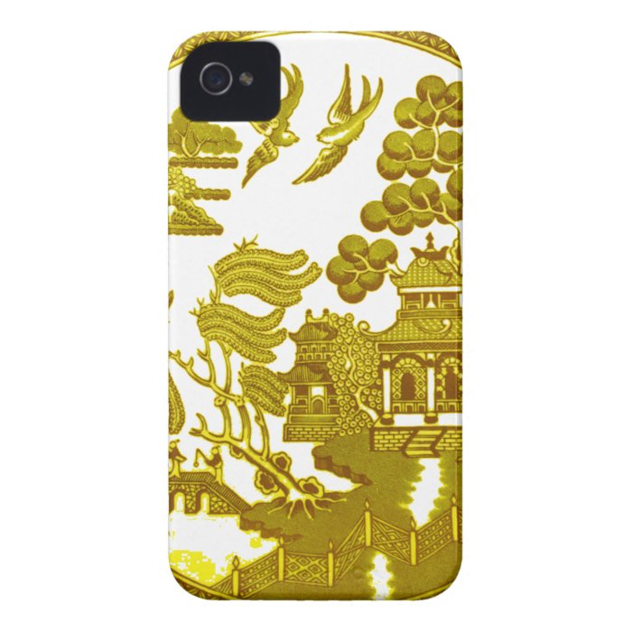Willow pattern - Gold iPhone 4 Cover
