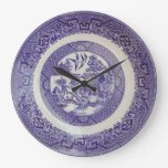 Willow Pattern Plate Clock