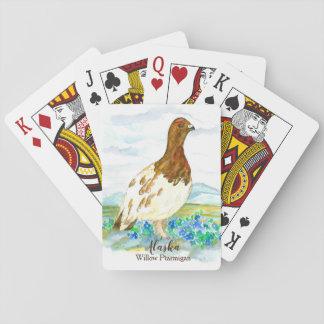 Willow Ptarmigan Alaska State Bird Forget Me Not Playing Cards