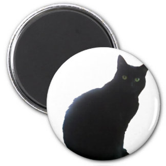 Willow the Black Cat Fridge Magnet