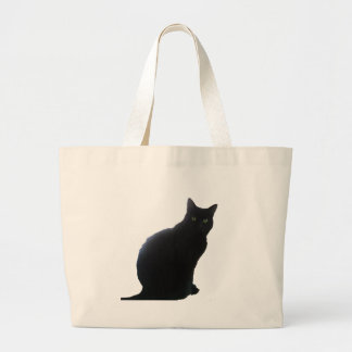 Willow the Black Cat Large Tote Bag