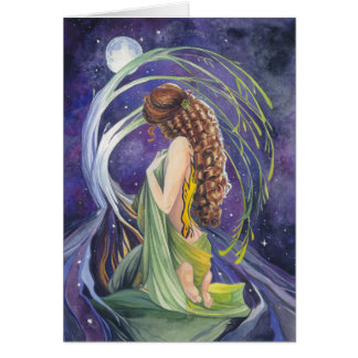 Willow, The Moon and Night Blank Greeting Card