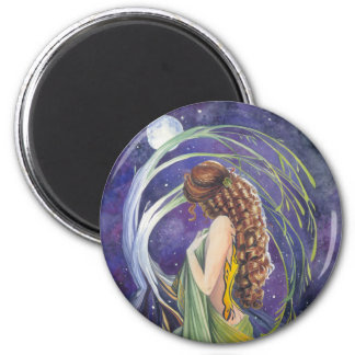 Willow The Moon and Night Fridge Magnets