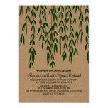 Willow Tree Branches Kraft Paper Wedding Invite