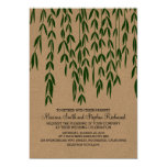 "Willow Tree Branches Kraft Paper Wedding Invite 5"" X 7"" Invitation Card"