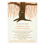 Willow Tree Fall Wedding Invitation Announcements