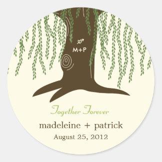 Willow Tree Favor Sticker Round Stickers