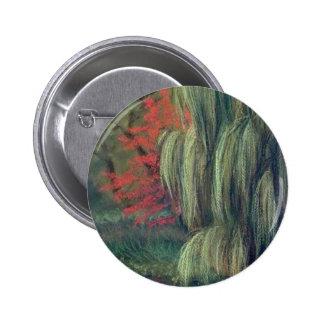 WILLOW TREE -HIDDEN LAKE GARDENS -TIPTON MICHIGAN BUTTON