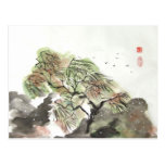 Willow Tree in Storm Postcard