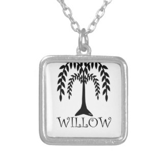 willow tree silver plated necklace