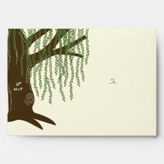 Willow Tree Wedding - A7 Envelope