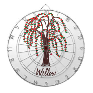 Willow Tree with Hearts - Customizable Dart Boards