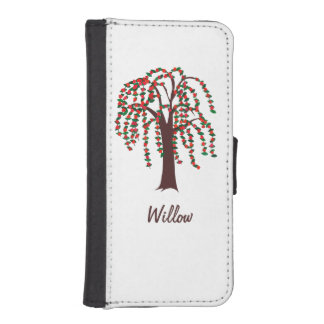 Willow Tree with Hearts - Customizable Phone Wallet Case