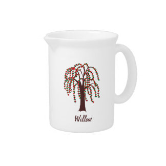 Willow Tree with Hearts - Customizable Pitcher