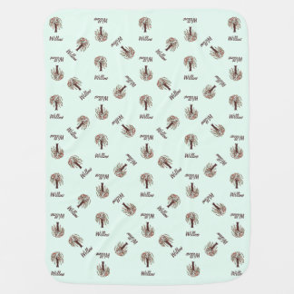 Willow Tree with Hearts - Customizable Swaddle Blanket