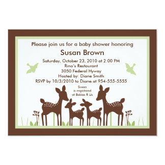 Willow Twins Deer Baby Shower Invitation So Cute