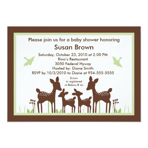 willow twins deer baby shower invitation so cute zazzle